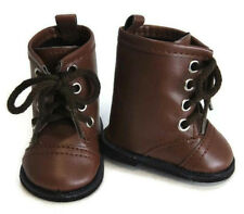 "Doll Clothes fits 18"" American Girl Brown Work Boots Kirsten Pioneer"