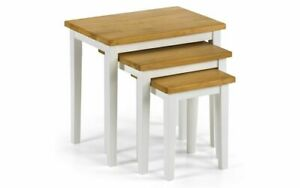 CLEO OAK AND WHITE NEST OF TABLES by Julian Bowen