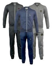 Mens Jogging Suit Tracksuit Fleece Bottoms Pants Full Zip Top Gym S-XL