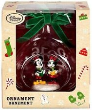 Mickey and Minnie Mouse Glass Sketchbook Ornament - Holiday 2016 NEW IN BOX