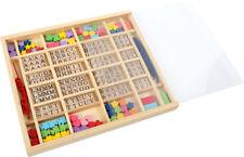 Coffret de perles en bois : Alphabet