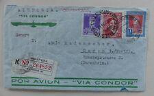 Argentinien 1935 Luftpostbrief via Condor nach Deutschland