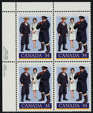Canada 1075 TL Plate Block MNH Canadian Navy, Uniforms