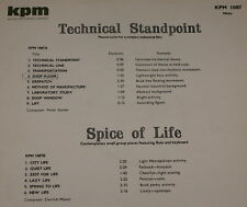 KPM 1087 LIBRARY LP ~ TECHNICAL STANDPOINT ~ SPICE OF LIFE ~ SANDER ~ MASON