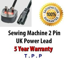 UK Mains 2 PIn Power Lead Cable Cord For BERNINA Sewing Machines