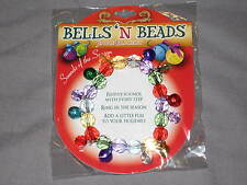 Colorful Bells Beads Jingle Holiday Seasonal Fashion Festive Bracelet NEW!
