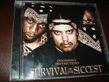 CD DOOMSDAY PRODUCTIONS SURVIVAL OF THE SICCEST ~MINT ULTRA-RARE!  LAS VEGAS RAP