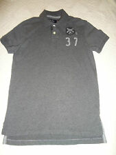 American Eagle Vintage Fit Mens Polo Shirt Size Small Short Sleeve Gray AE Men @
