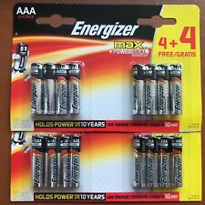 16 Energizer AAA MAX Alkaline Powerseal Batteries LR03 MX2400 MN Longest Expiry