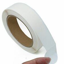 "Super Gloss 1"" Clear Round Stickers Retail Package Seals 1,000 labels Per Roll"