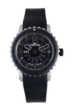 Fortis Men's 675.10.81 K B-47 Big Black Rubber Bezel Day Date Diver's Watch