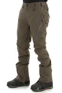 Bonfire Surface Slim/Skinny Stretch Mens Snow Pants - Charcoal M -Snowboard/Ski
