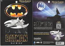Batman 1989 Movie Batwing Plane Metal Earth 3-D Laser Cut Steel Model Kit NEW