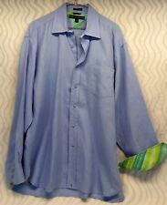 Tommy Hilfiger Men's Size L Blue Flip Cuff Long Sleeve Button Down Shirt