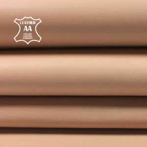 BEIGE leather fabric Genuine Sheep skin sheets for sewing AMBERLIGHT, 693, 3 oz
