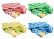 More details for gingham duplex grease proof paper sheets 250x375mm food burger wraps all colours