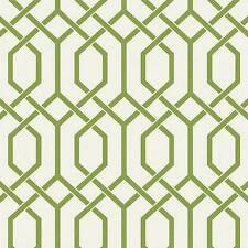 Wallpaper Modern High End Designer Geometric Lime Green Trellis Lattice on White