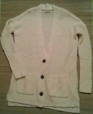 NWT ABERCROMBIE FITCH Women's White Knit Cardigan Sz XS/S