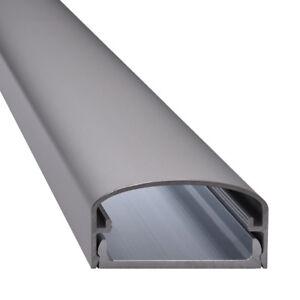 Design TV Alu Kabelkanal Aluminium silber matt eloxiert - Modell Big Mouth