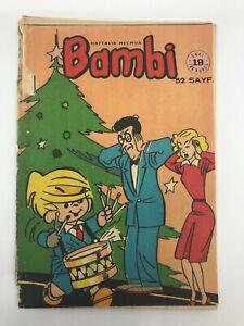 BAMBI #19 Turkish Comic Book 1960s Mega Rare DENNIS THE MENACE COVER Tintin