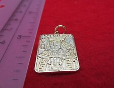 14KT GOLD EP QUEEN OF HEARTS GAMBLING PLAYING CARD CHARM PENDANT-A90