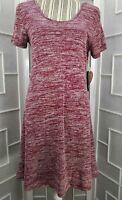NWT Sz XL Sadie Robertson Scoop Neck Short Sleeve Knee Length Knit Dress
