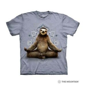 Mountain Adult T-shirt Vriksasana Sloth