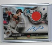 2018 Bowman Chrome Baseball Autograph relic RC Chance Sisco 117/150 BCAR-CS