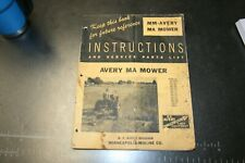 Mm Avery Ma Mower Instructionsservice Parts List Manual Form R200 3m 4 52 G I