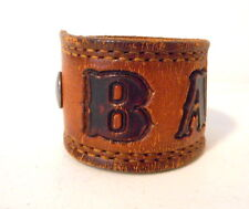 Barb Leather Cuff Bracelet Jewelry Reclaimed Boho Western Brown Barbara Small
