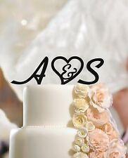 Personalised Wedding Initials Cake Topper Letters, Custom Made Script, Monogram