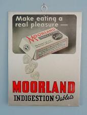 More details for vintage advertising display sign shop counter moorland tablets chemist 1950s