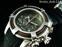 Invicta Men 54mm Bolt Zeus Tri Cable Koi Fish & Dragon Silver Tone 200M SS Watch