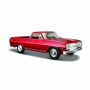 1:25 1965 Chevrolet El Camino - Metallic Red - Maisto
