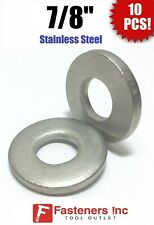 """3,500 7//8/"""" OD // .05 Thick 3//8/"""" Stainless Steel Flat Washers 18-8 Stainless"""