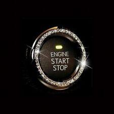 Diamond Ring Silver Decorative Accessories 3cm Car Button Start Stop Switch