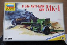 ZVEZDA 1/35 6 PDR ANTI TANK GUN MK.1 MODEL KIT BOXED