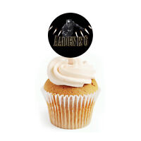 12 Black Panther Birthday Party Favors Personalized 2 inch Round Cupcake Toppers