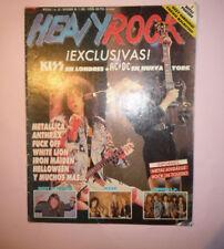 MAGAZINE HEAVY ROCK 63 KISS AC/DC OZZY OSBOURNE VIXEN HELLOWEEN R