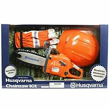 Kids Toy Chainsaw Kit With Gloves Hard Hat Children Outdoor Fun Toddler Play