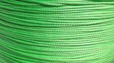 100' of 1.5mm Lime Dyneema SK75 Line 320Kg Tensile. Very Light 12 Strand Rope
