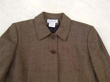 Harve Benard Womens 100% Wool Blazer Coat 6 Houndstooth Olive Green Black Jacket