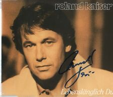 """Roland Kaiser AUTOGRAFO SIGNED CD-Cover """"ergastoli tu"""""""