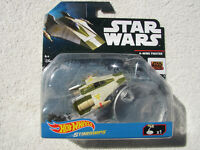 STAR WARS HOT WHEELS STARSHIPS A-WING FIGHTER w/ PIVOTAL FLIGHT STAND NEW IN BP!