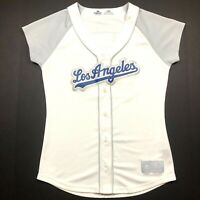 Los Angeles Dodgers Majestic MLB Women's Matt Kemp #27 Jersey Size S White Gray
