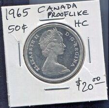 CANADA - FANTASTIC QE II PROOFLIKE SILVER 50 CENTS, 1965