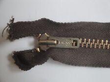 Vint Talon Heavy Duty Brass Metal Separating 15 inch Zipper in brown