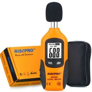 RISEPRO Decibel Meter, Digital Sound Level Meter 30 – 130 dB Audio Noise