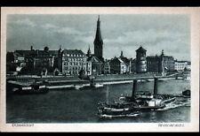 DUSSELDORF (ALLEMAGNE) BATEAU VAPEUR sur le RHEIN début 1900