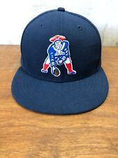 NEW ENGLAND PATRIOTS RETRO LOGO SNAP BACK HAT CAP #87 - NEW ERA -